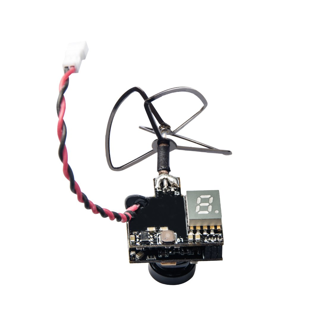 Wolfwhoop WT02 600TVL Ultra Micro AIO Camera and 200mW 5.8GHz Video Transmitter with Clover Antenna for FPV Indoor Racing