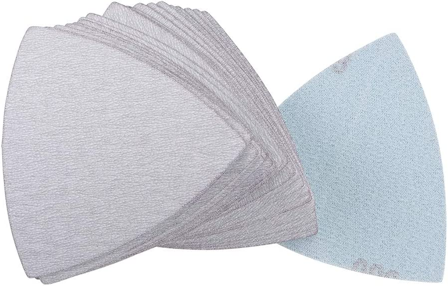 Triangle Hook and Loop Sanding Pads Silicon Carbide 3-1//2 Inch White Abrasive 400 Grit 25 Pcs Triangular Sanding Paper uxcell Detail Sander Sandpaper