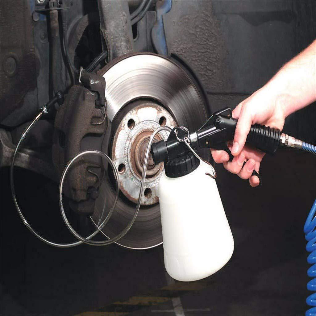 1L 2xBremsfl/üssigkeitswechselwerkzeug 2xMetalladapter 4 x Kunststoffadapter TIREOW Pneumatisches Garage Vakuum Fahrzeugbremsfl/üssigkeits Entl/üftungswerkzeug Entl/üftungswerkzeug Brems/öl-Austauschkit