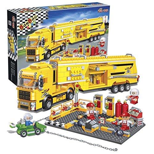 BanBao Racer Maintenance Truck Building Kit (660 Piece), Yellow
