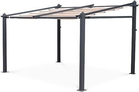 Alices Garden - Pérgola de Pared de Aluminio, 3 x 4 m, Lona ...
