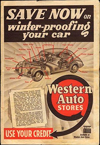 Western Auto Sales >> Western Auto Winterize Your Car Sales Circular 1942 Fans