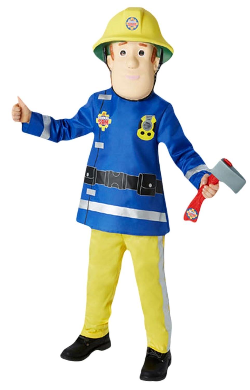 Karnevalsbud - Jungen Jungen Jungen Karneval Kostüm Feuerwehrmann Sam, Mehrfarbig, Größe 98-104, 3-4 Jahre 961208
