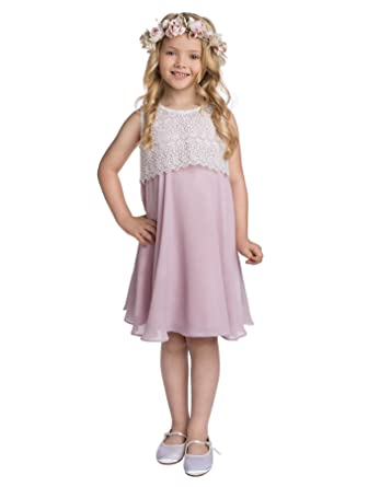 Paisley of London Girls Timeless Wedding Dress in Pink, 7 Years