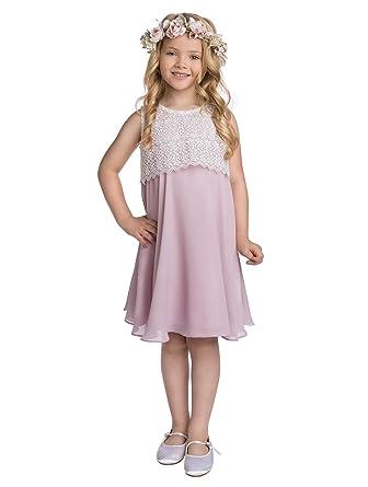 563651db9 Amazon.com  Paisley of London Girls Timeless Wedding Dress in Pink ...