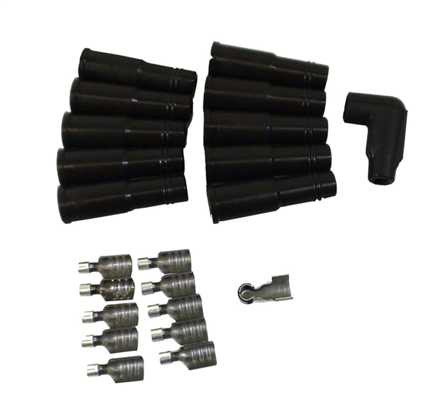 Taylor Cable 46052 LT1 180-Degree Black Spark Plug Boot with Terminals - Pack of 10