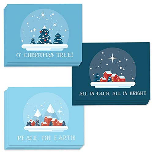 Amazon 48 assorted holiday greeting cards 3 starry night 48 assorted holiday greeting cards 3 starry night designs for warm christmas wishes to all m4hsunfo