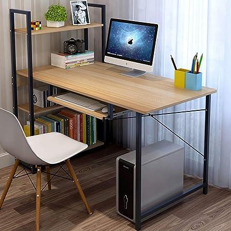 Escritorio de computadora Con estantes,Mesa de ordenador Mesa de ...