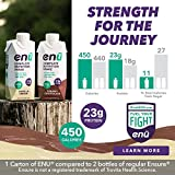 ENU Meal Replacement Shakes for Weight Gain, 23g Protein / 450 Calories (Assorted Flavors, 12-Pack)