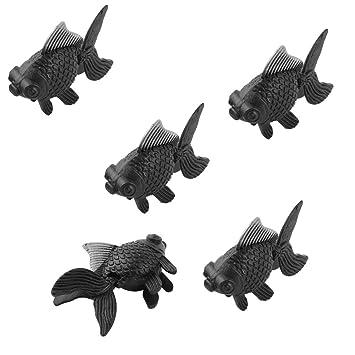 Carpas doradas de adorno para decorar pecera o acuario, de Sourcingmap®, de plástico color blanco y negro, 5 piezas: Amazon.es: Productos para mascotas