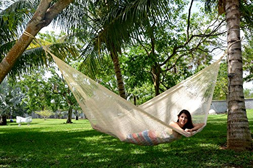 Hand Tufted Bay Leaf (Hammocks Rada Handmade Yucatan Hammock Matrimonial Size Natural Color)