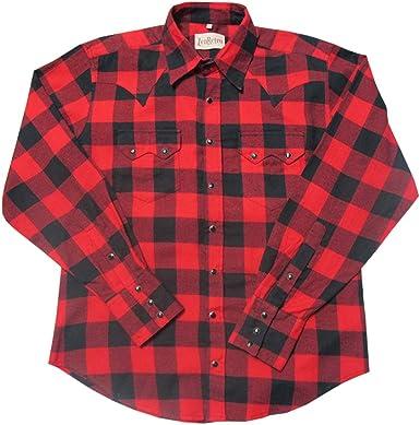 ZenRetro Hombre Camisa roja a Cuadros Estilo Vaquero Urbano 2XL: Amazon.es: Ropa y accesorios