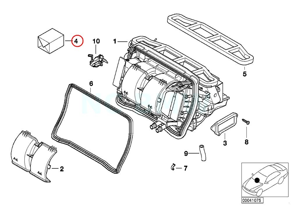 amazon bmw genuine set small parts f air cond adjust lever BMW E46 Engine Diagram amazon bmw genuine set small parts f air cond adjust lever automotive