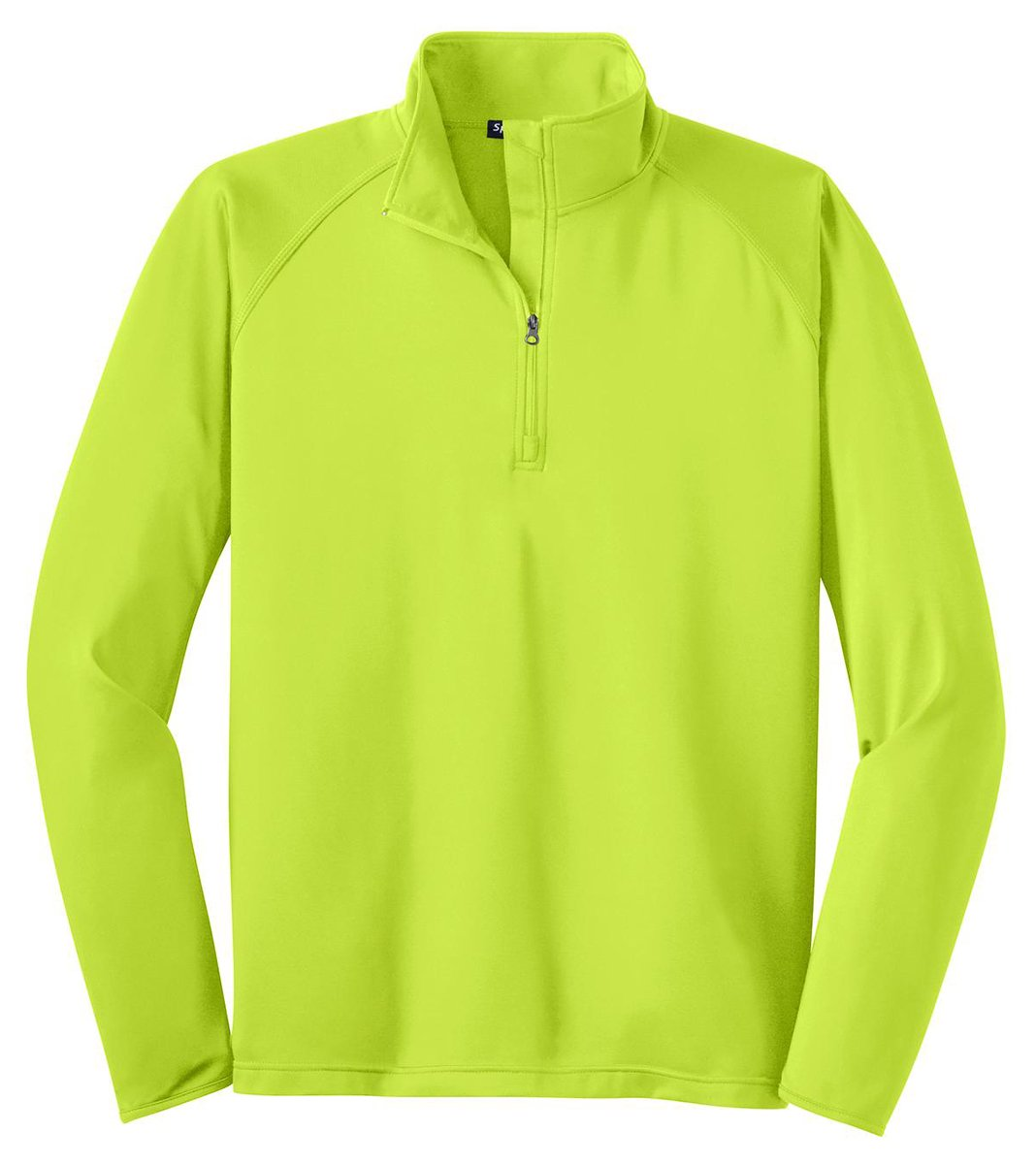 Sport-Tek Men's Sport Wick Stretch 1/2 Zip Pullover XXL Charge Green