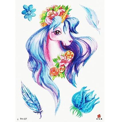 Flor brazo tatuaje pegatinas color pony romántico duraderas a ...
