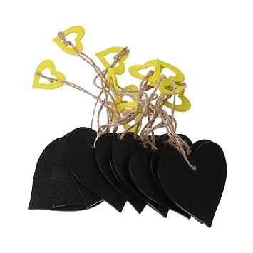 BecauseOf - 10 mini pizarras de pizarra con cordel y cuerda ...