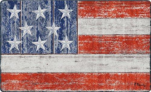 Toland Home Garden Rustic Patriotic 18 x 30 Inch Decorative America USA Floor Mat Stars Stripes Doormat ()