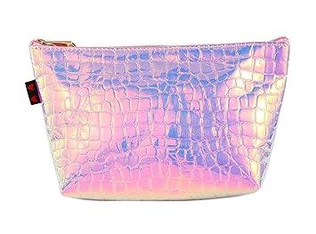 Amazon.com: Bolsa de cosméticos, diseño de holograma ...