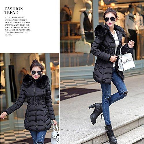 Hiver Longue Sunenjoy Coton Svelte Tranch Femme Veste Mode Parka Chaud Manteau wI5Pq5H