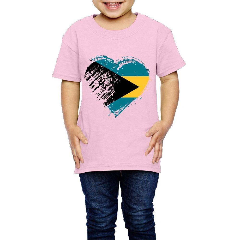 Grungy I Love Bahamas Heart Flag 2-6 Years Old Children Short-Sleeved T Shirt