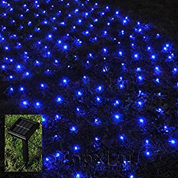 Amazon Com 1mx2m Outdoor Solar Net Led String Lights