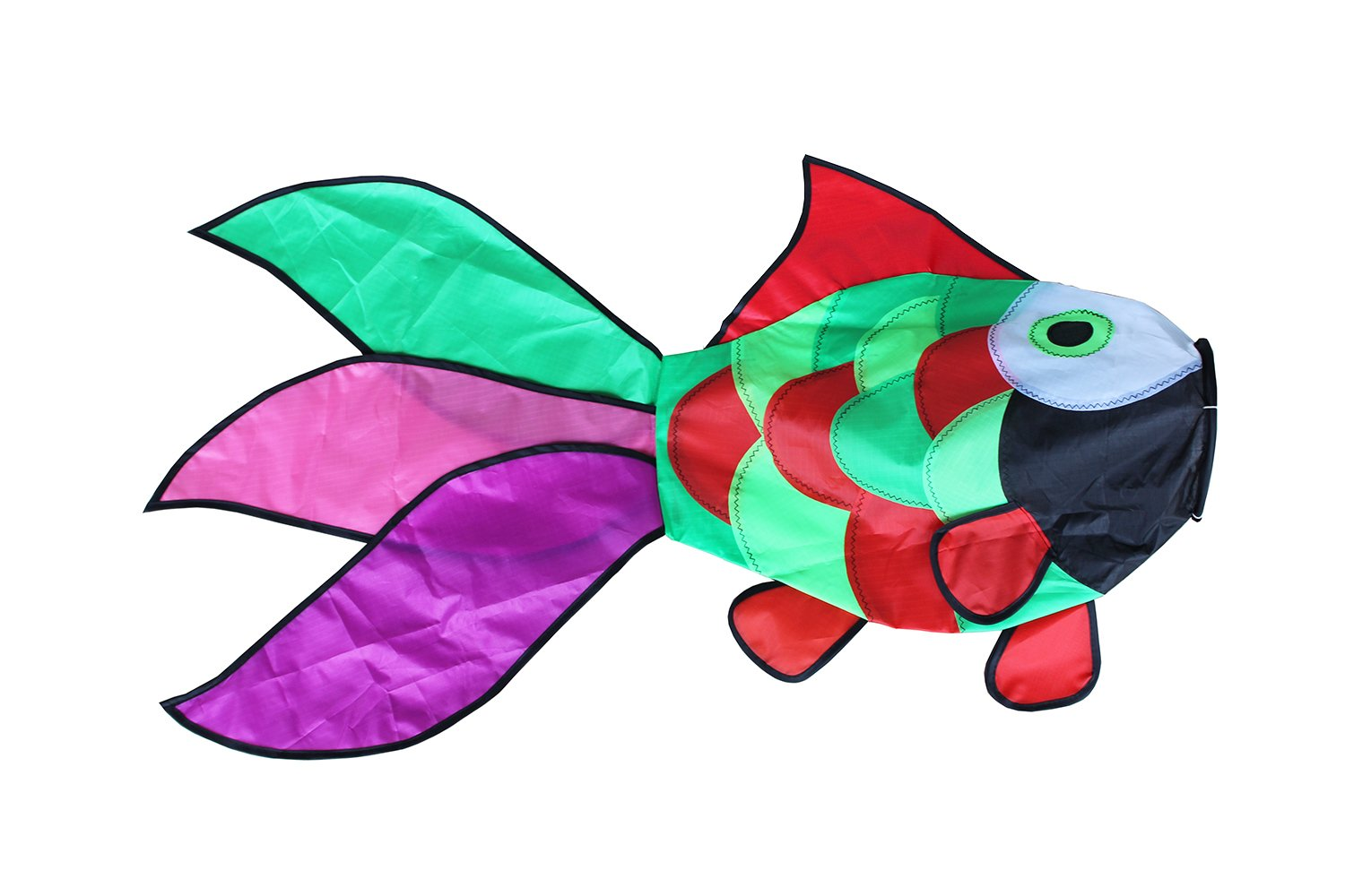 31 in Rainbow Fish Windsock Fun Airsock for Outdoor Patio Garden Decorative Hanging Fish