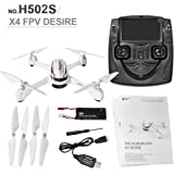 Hubson X4 H502S 5.8G FPV with 720P 2.1 MP HD Camera Drone GPS Altitude Mode RC Quadcopter LCD Remote Screen Helicopters at amazon