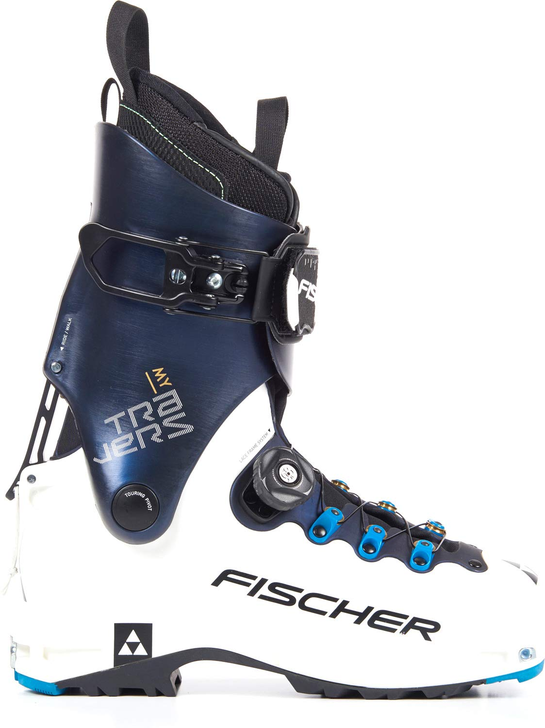 Fischer My Travers Alpine Touring Boot – Women 's 25.5 ホワイト/ダークブルー B073NWDTNR