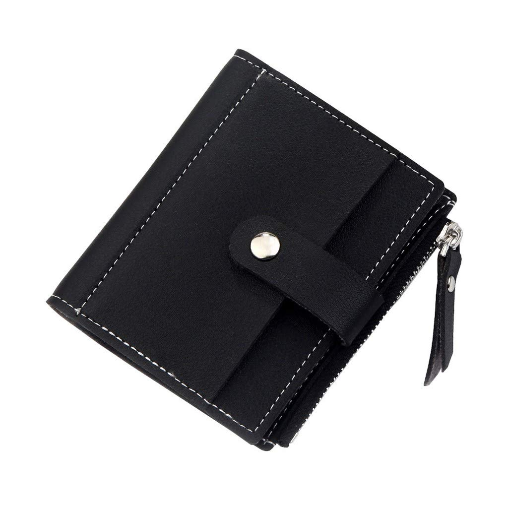 Women's Wallets Coin Bag Small Money Purses Dollar Vintage No Zipper Purse Money Clip Pure Color Wallet By BOLUBILUY