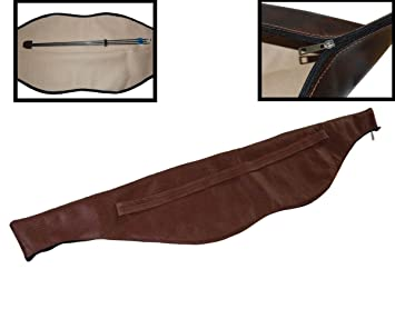 """53/"""" Archery Traditional Recurve Bow Carry Bag Case Cover PU Leather Holder Brown"""