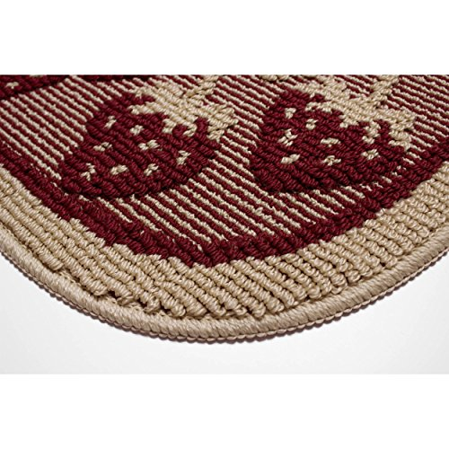Structures Textured Loop 18 X 28 In Wedge Kitchen Rug