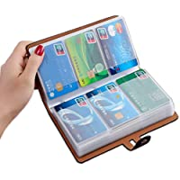 RFID Credit Card Holder, Leather Business Card Organizer with 96 Card Slots, Credit Card Protector for Managing Your…
