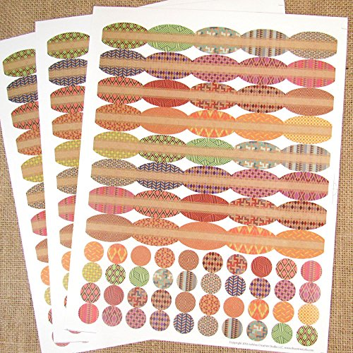 120 Prism Ovals Plus 120 Round Stickers Poly Weatherproof Essential Oil Bottle Labels by Rivertree Life