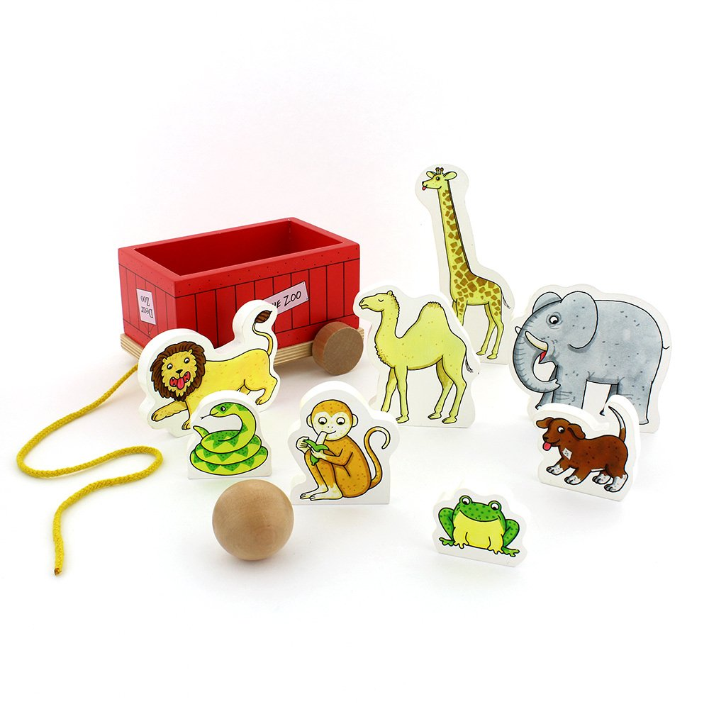 Milly & Flynn Dear Zoo Wooden Skittles And Pull-Along Game: Dear Zoo:  Amazon.co.uk: Toys & Games