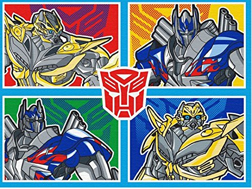 Hasbro Transformers Rug Optimus Prime, Bumblebee XFMR 4 Bedding Wall Decals Blue Area Rugs, 40