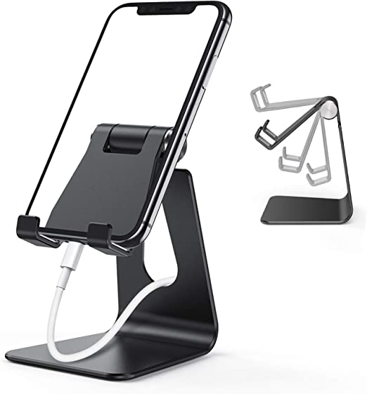 X Adjustable Foldable Phone Holder Tablet Universal PC Lightweight Dock Compatible with iPhone 12 Losvick Phone Stand 12 Pro Huawei 11 Pro XR S10 and more Devices- White 8 Galaxy S20 iPad