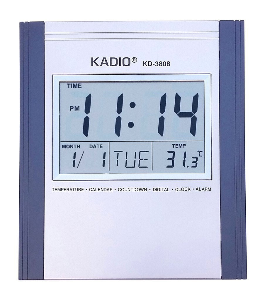 Buy zesi stylish kadio digital wall mount table temperature buy zesi stylish kadio digital wall mount table temperature display clock grey rectangular shape online at low prices in india amazon amipublicfo Image collections
