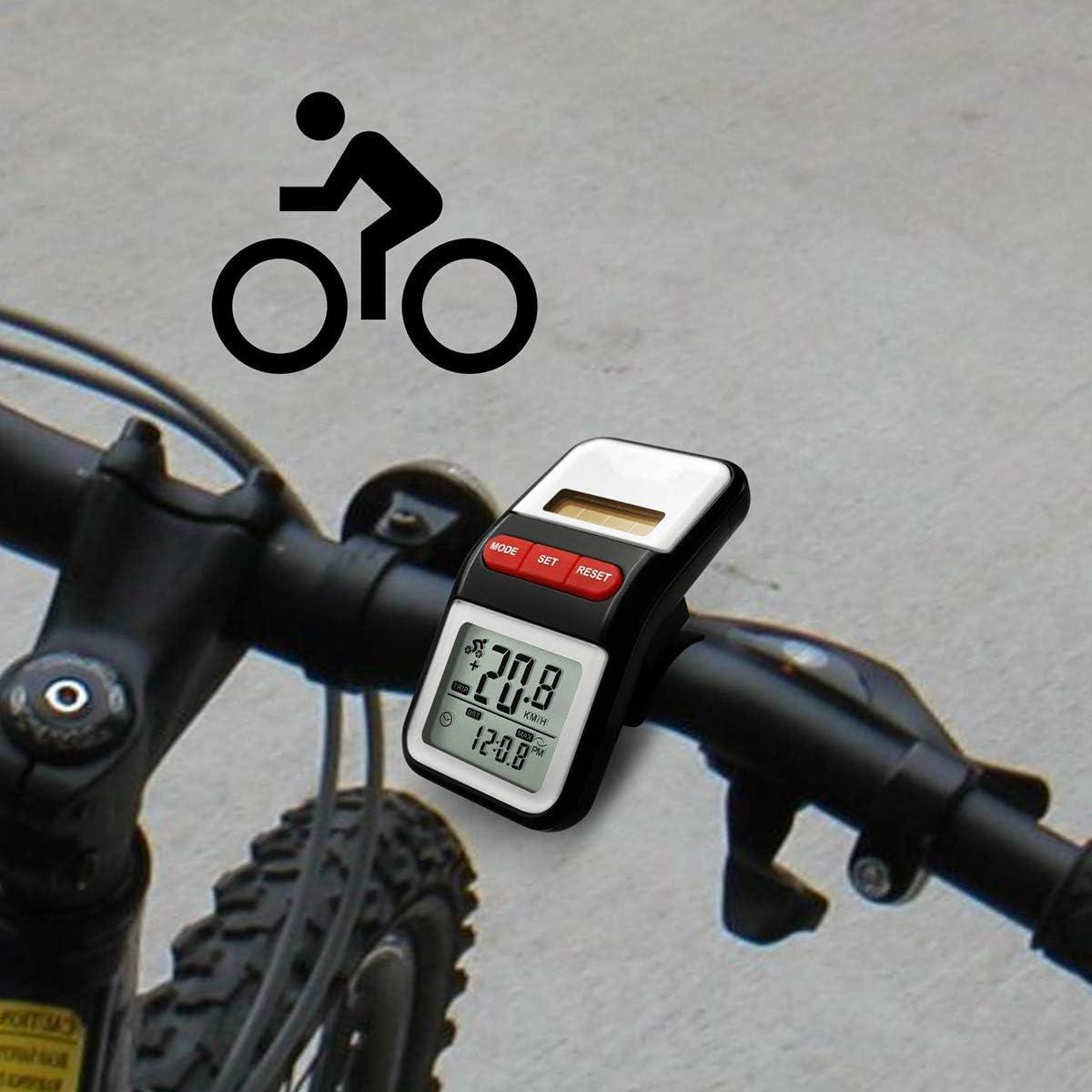 Plata, con bot/ón de bater/ía VORCOOL Veloc/ímetro de la Bicicleta a Prueba de Agua Multifuncional Bike Computer Wireless Cycling Odometer