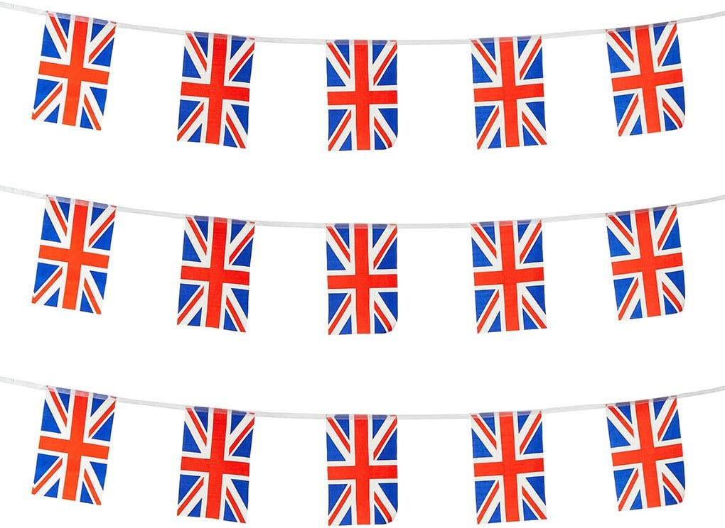 UK Flags United Kingdom Small String Mini Flag Pennant Banner Decorations
