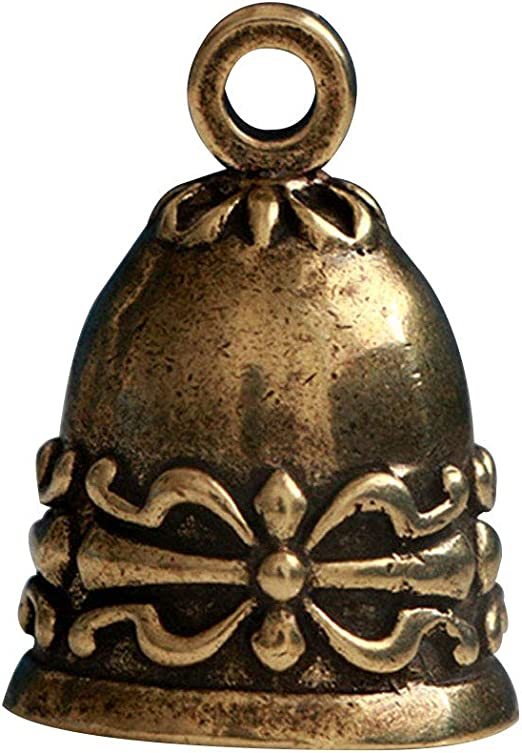 WSSROGY 10Pcs Antique Bronze Tinkle Bells Buddhism Bells Charms Pendants for Craft Hanging Decor