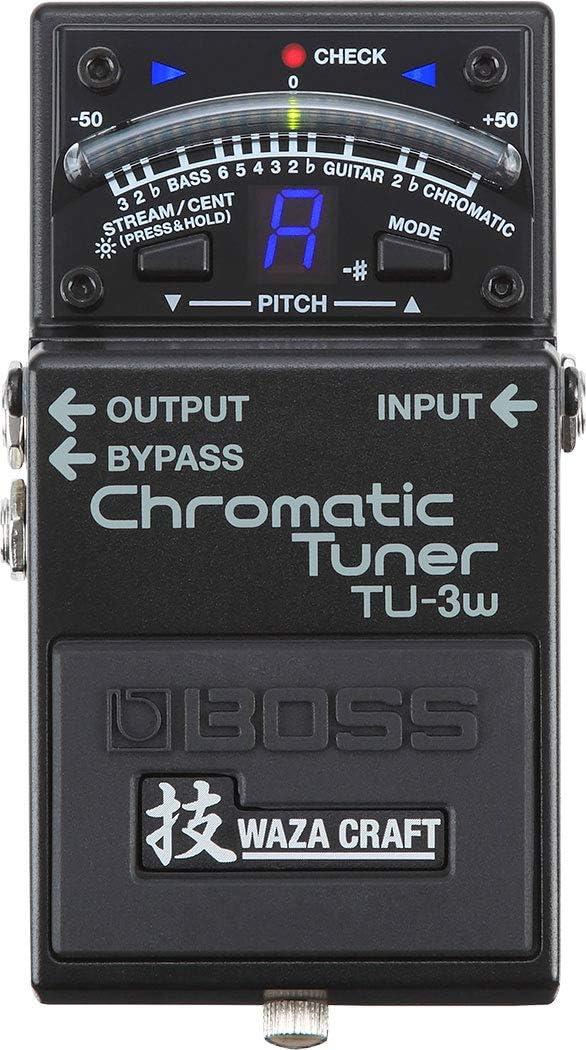 BOSS WAZA Craft Chromatic Tuner Stompbox (TU-3W)