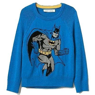 Baby Gap Toddler Boys Blue Batman Intarsia Crew Sweater 2 Years