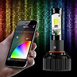 H11 2in1 LED Headlight Bulb Kit - XKchrome Smartphone App-enabled Bluetooth RGB Devil Eye + LED Headlight Conversion