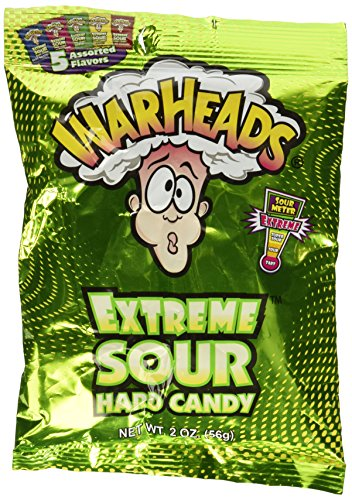 Warheads Extreme Sour Hard Candy Assorted Flavors 2oz.