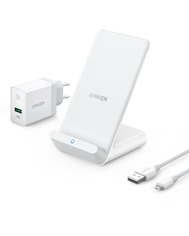 Anker PowerWave 7.5 Stand - Chargeur sans fil certifié Qi avec ventilateur compatible standard iPhone 7.5W et Samsung 10W (chargeur mural inclus) AK-B2522321