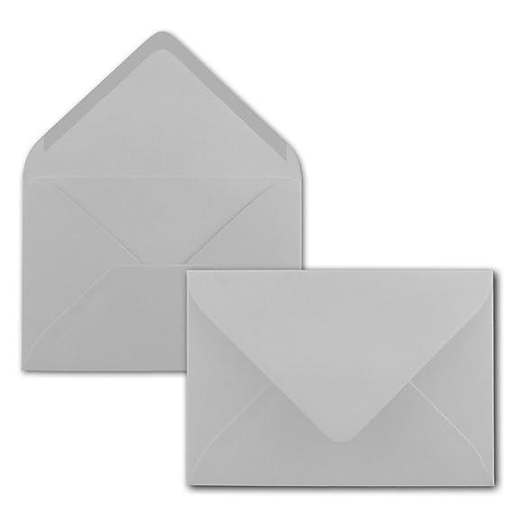 Gru/ßkarten Serie FarbenFroh/® Brief-Umschl/äge in Graphit-Grau//Dunkelgrau Nassklebung ohne Fenster DIN C5 Kuverts 22,0 x 15,4 cm 100 St/ück Weihnachten