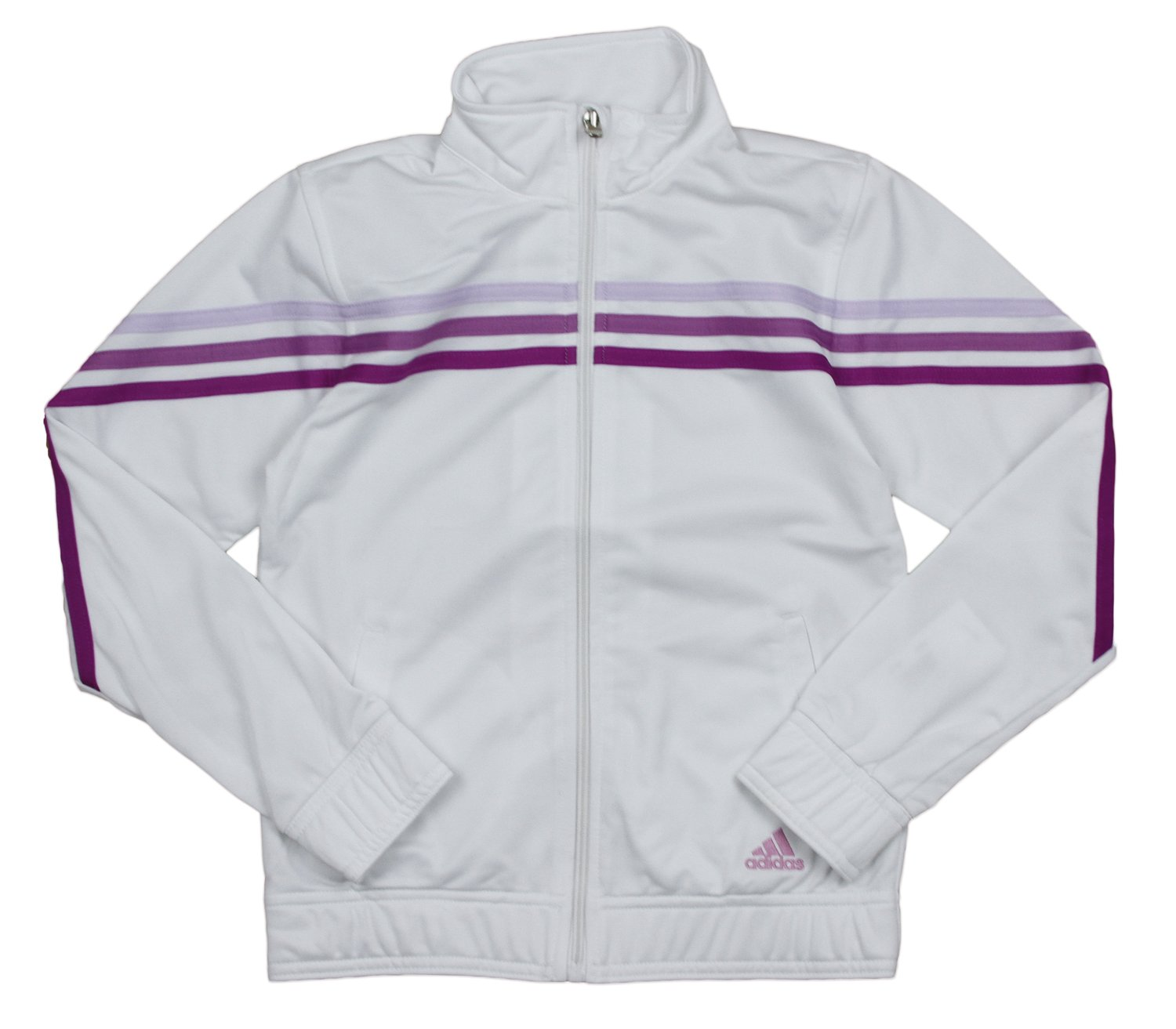 Adidas Big Girls Pursuit Full Zip Striped Track Jacket