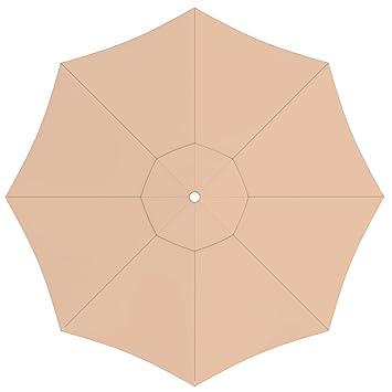 PARAMONDO Toile de rechange pour parasol avec Air Vent pour