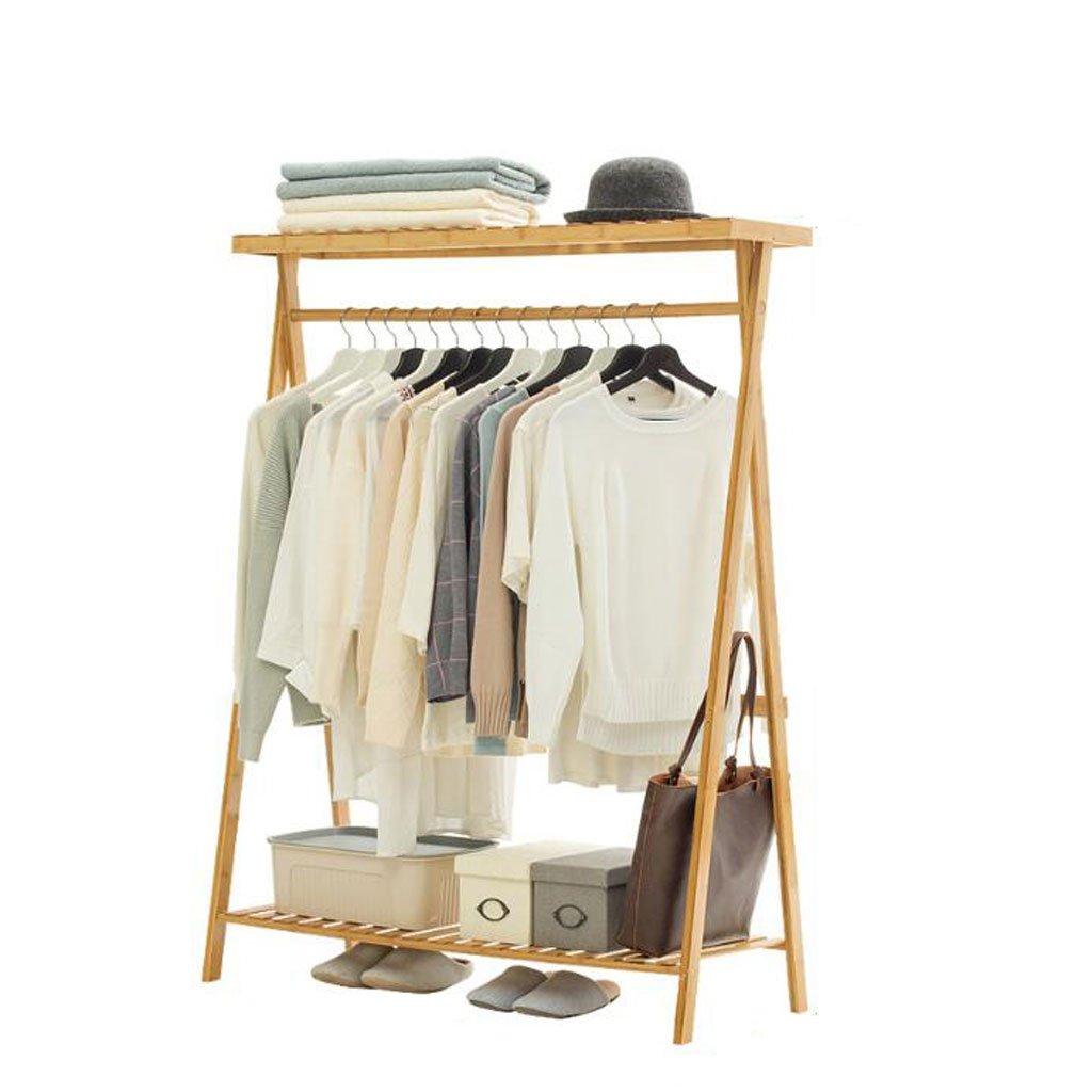 C Coat rack Simple coat rack Solid Wood Bedroom Hanger Floor Hanger Storage Rack Simple Modern Clothes Rack (color   D)