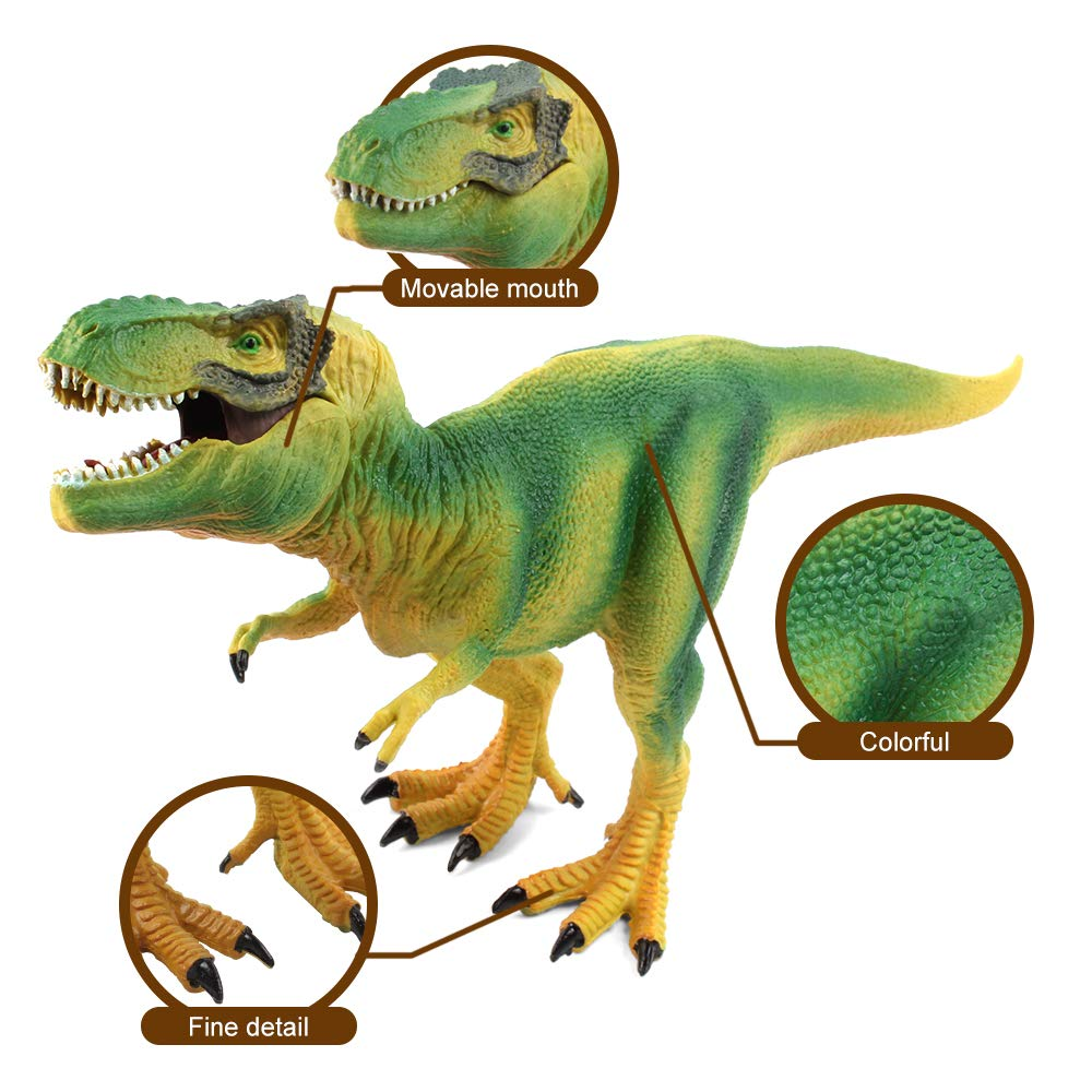 Pack of 8 PCS Plastic Solid Dinosaur Toys Set,Dinosaur Toys for Toddlers Kids T-Rex Dinosaur Figures,Realistic Dinosaur Toys,Lifelike Jurassic World